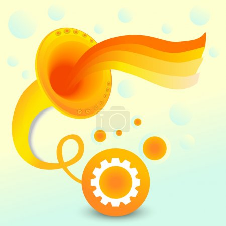 Vector abstract background with gramophone.