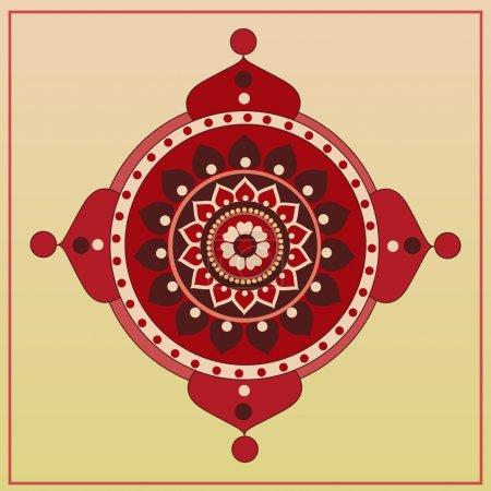 Illustration for Vector folk background. Vector illustration. - Royalty Free Image