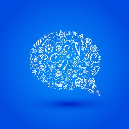 Vector speech bubble. Vector illustration.