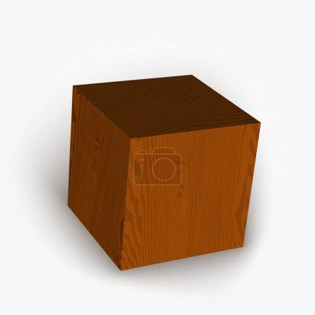 Illustration pour Boîte vectorielle en bois. Illustration vectorielle . - image libre de droit