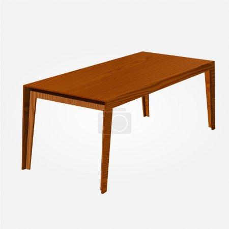 Illustration pour Table vectorielle en bois. Illustration vectorielle . - image libre de droit