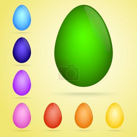 Illustration pour Ensemble vectoriel d'œufs colorés . - image libre de droit