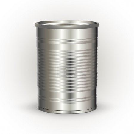 Vector illustration of a tin can.