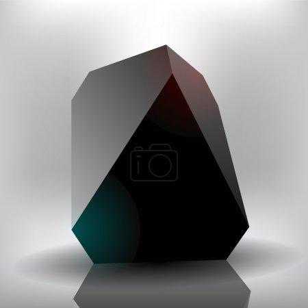 Illustration pour Pierre noire vectorielle. Illustration vectorielle . - image libre de droit