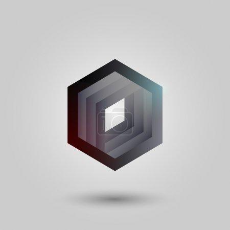 Illustration pour Hexagone vecteur noir. Illustration vectorielle . - image libre de droit