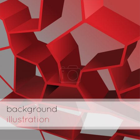 Abstract geometric red background.