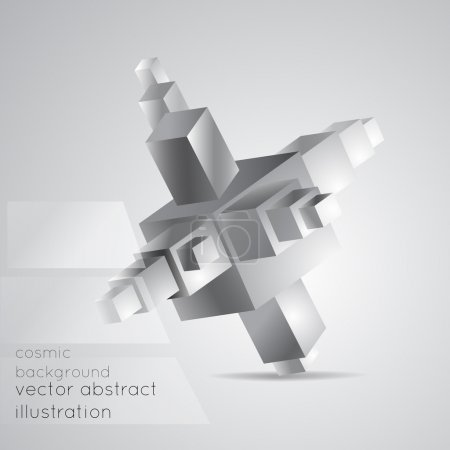 Photo for Abstract geometric background from cubes. - Royalty Free Image