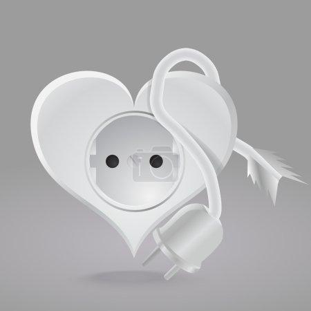 Illustration pour Prise en forme de coeur. Illustration vectorielle . - image libre de droit