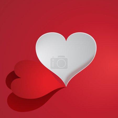 Vector paper heart. Vector illustration.