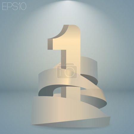 Illustration pour Illustration vectorielle d'un numéro un. - image libre de droit