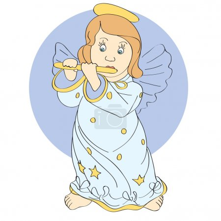 Photo for Vector cute angel. Vector illustration. - Royalty Free Image