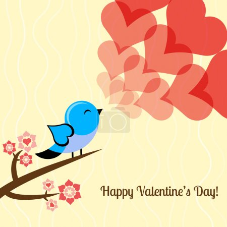 Illustration for Vector card for Valentine's day. - Royalty Free Image