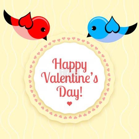 Illustration pour Carte vectorielle pour la Saint-Valentin . - image libre de droit