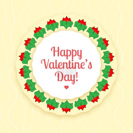 Photo for Vector card for Valentine's day. - Royalty Free Image