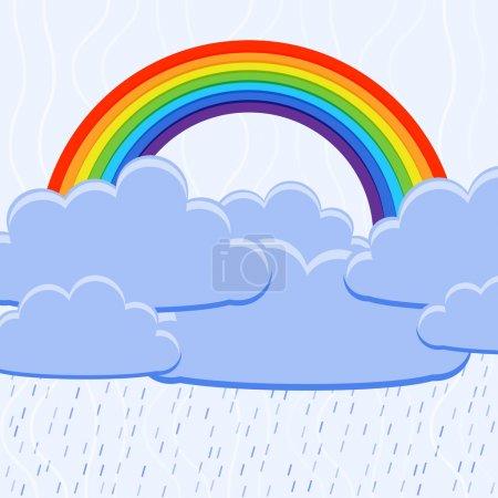 Vector illustration of a rainbow.