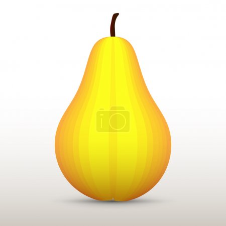 Vector illustration of a yellow pear.