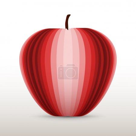 Illustration pour Illustration vectorielle d'une pomme rouge. - image libre de droit