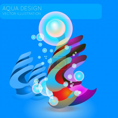 Vector abstract background with bubbles.