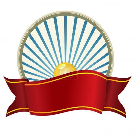 Illustration pour Fond vectoriel avec ruban rouge . - image libre de droit