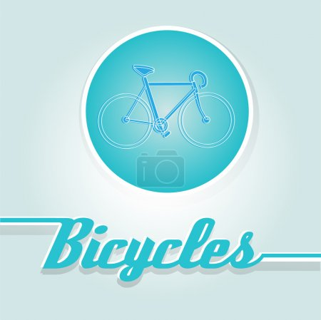 Illustration for Vector illustration of a blue bicycle. - Royalty Free Image