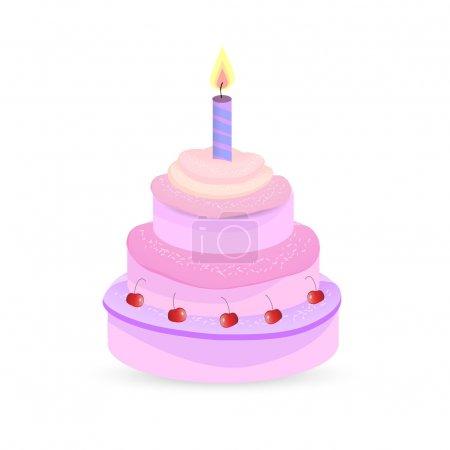 Gâteau d'anniversaire vecteur. Illustration vectorielle .