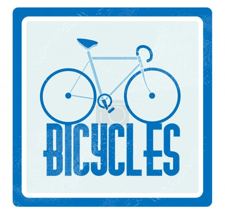 Vector illustration of a blue bicycle.