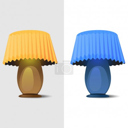 Illustration pour Illustration vectorielle de deux lampes de table . - image libre de droit