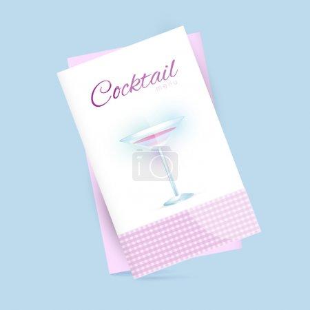 Illustration pour Menu cocktail. illustration vectorielle . - image libre de droit