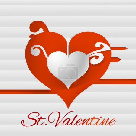 Illustration for Vector background for Valentine's day. - Royalty Free Image