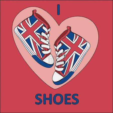 Illustration pour Fond vectoriel avec chaussures . - image libre de droit