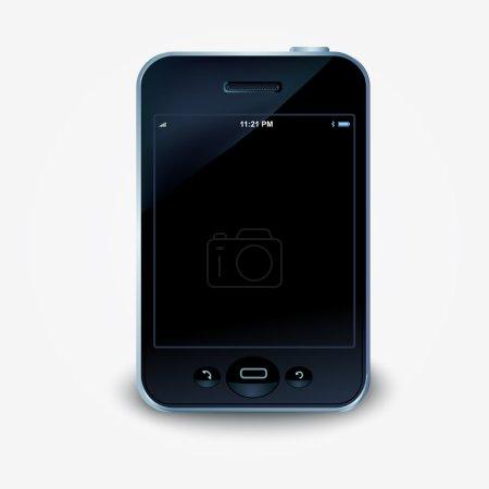 Photo pour Illustration vectorielle d'un smartphone à écran tactile . - image libre de droit