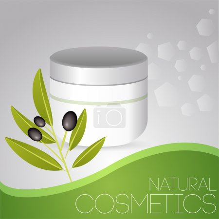 Cosmetic cream with olives.