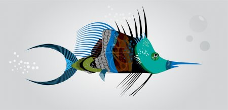 Des poissons abstraits. Illustration vectorielle
