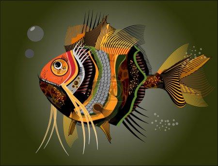 Illustration pour Des poissons abstraits. Illustration vectorielle - image libre de droit