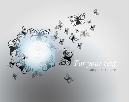 Illustration for Vector background with butterflies. - Royalty Free Image