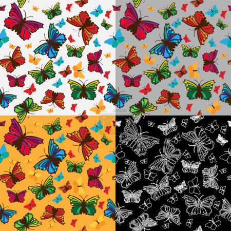 Photo for Vector background with butterflies. - Royalty Free Image