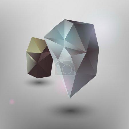 Vector geometric background. Vector illustration.