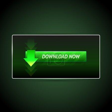 Illustration pour Bouton de téléchargement vectoriel. Illustration vectorielle . - image libre de droit