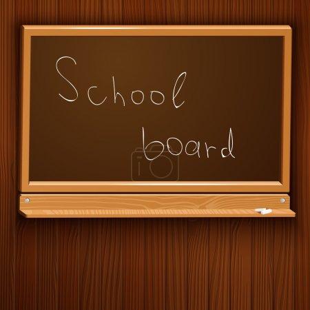 Vector illustration of a school blackboard.