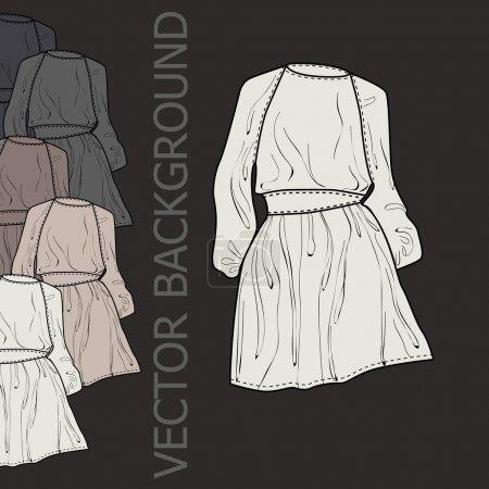Illustration pour Fond vectoriel avec robes . - image libre de droit