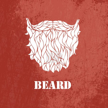 Illustration for Man's beard .Vector part of face - Royalty Free Image