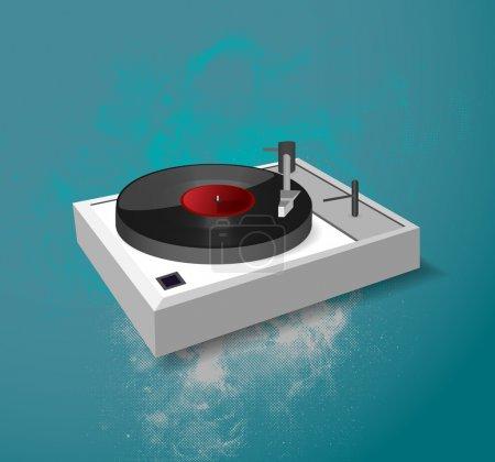 Vector illustration of a dj-mixer.
