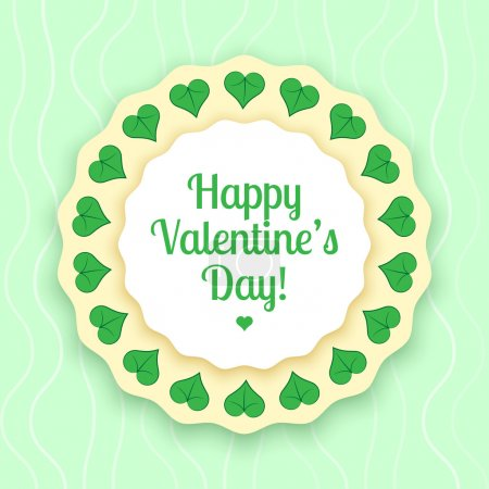 Vector greeting card for Valentine's day.