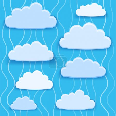 Illustration pour Illustration vectorielle de la collection nuages. - image libre de droit