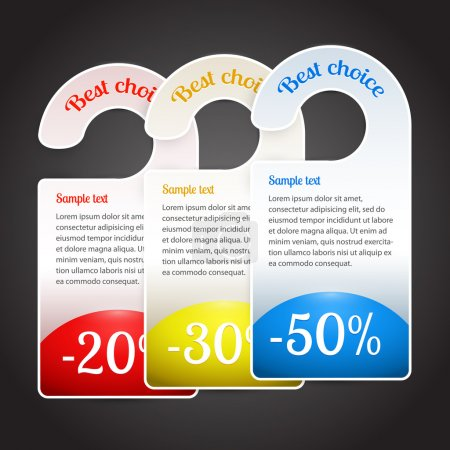 Vector best choice labels.