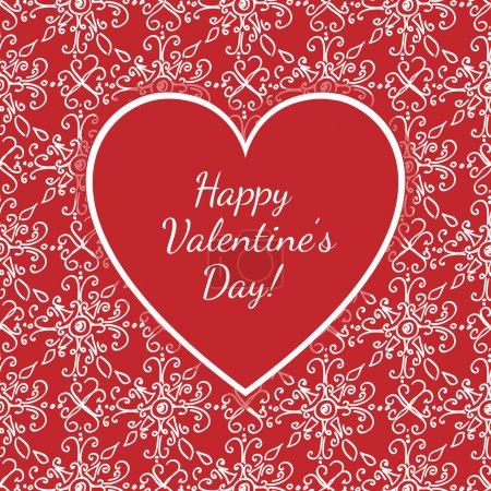 Illustration pour Carte vectorielle avec félicitations pour la Saint-Valentin . - image libre de droit