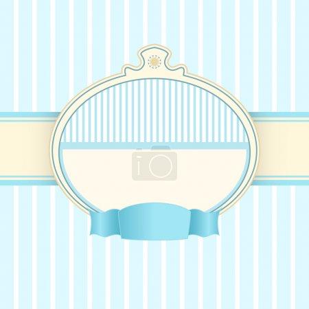 Illustration for Vector vintage blue background. - Royalty Free Image