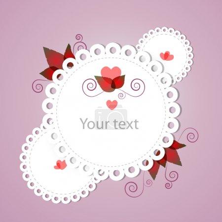 Illustration pour Cadre floral vectoriel. Illustration vectorielle . - image libre de droit