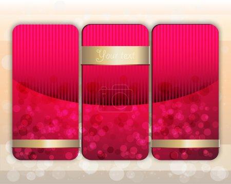 Illustration pour Ensemble vectoriel de bannières roses . - image libre de droit