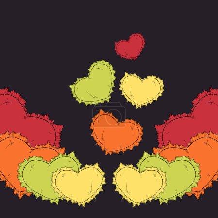Illustration pour Fond de Saint Valentin avec des cœurs. - image libre de droit